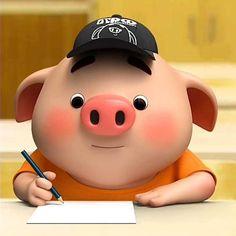 Pig Illustration, Illustrations, Pig Drawing, Little Pigs, Piggy Bank, Study, Amazons, Teacup Pigs, Piglets
