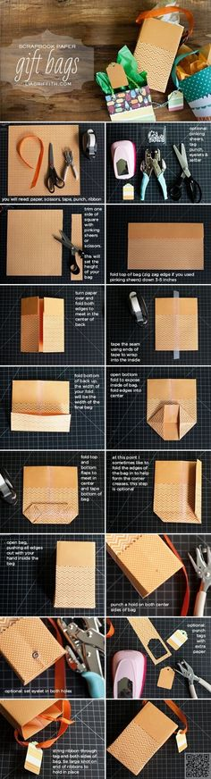 18. More Gift Bags - 20 #Fabulous Gift Wrapping Tutorials for the #Holidays ... → DIY #Wrapping