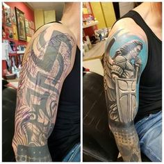 No automatic alt text available. Old Tattoos, Badass Tattoos, Black Tattoos, Body Art Tattoos, Black Cover Up, Black Tattoo Cover Up, Cover Tattoo, Z Tattoo, Knee Tattoo