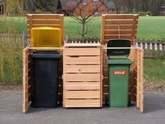 Mülltonnenbox Holz - Holzweise Garbage Containers, Outdoor Furniture, Outdoor Decor, Outdoor Storage, Canning, Home, Washing Bins, Hide Trash Cans, Nature