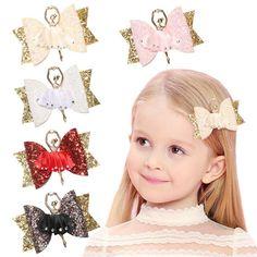 Sweet Women Girls Glitter Hairpin Bowknot Barrette Crystal Hair Clip Bow Gift HS