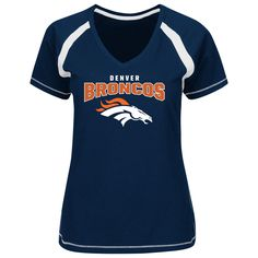 Majestic Denver Broncos Women s Navy Game Day Tradition V-Neck T-Shirt 4268074be