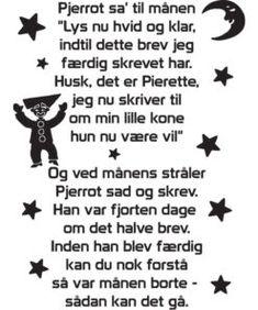 Pjerrot Sa' Til Månen – Wallstickers: Billige wallstickers i God dansk kvalitet Singing, Character, Musik, Lettering