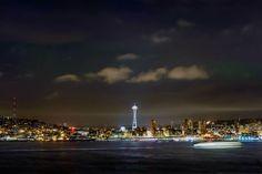 A beautiful Seattle night skyline.