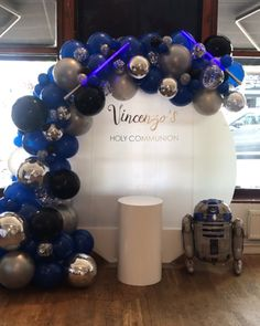 Star wars theme party - Home Design and Star Wars Party Decorations, Sweet 16 Decorations, Balloon Decorations Party, Balloon Garland, Birthday Party Decorations, Baby Shower Decorations, Party Themes, Star Theme Party, Balloon Backdrop