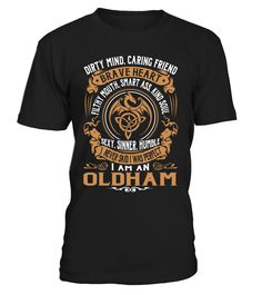 OLDHAM Brave Heart Last Name T-Shirt #Oldham