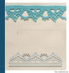 .Borte Spitze häkeln -  crochet border edging - barradinhos