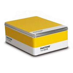 Pantone Metal Storage Box Mimosa - The Quick Gift
