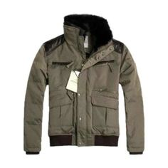 Moncler Feather Short Down Sheepskin Jacket Men Online