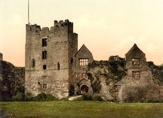 Ludlow Castle, Shropshire - This is where Katherine of Aragon was sent when Henry sent her away from court.  Anne Boleyn was given the Queen's Chambers at Whitehall, Greenwich, etc. Katherine  died, most likely of cancer, with very few attendants in the damp marshes of Ludlow.