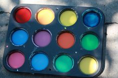 Kids Activities  Kids Crafts - Homemade Sidewalk Paint. 1/4 cup cornstarch + 1/4 cup water + food coloring = hours of outdoor painting fun!