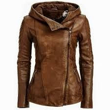 Image result for brown leather jacket for girls