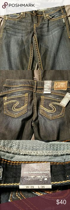 Camden Rose Bell silver jeans 29/35 *Shipping forgiveness sale* all prices dropped to ease the new shipping rate! Camden Rose Bell silver jean with small bell bottom legs dark denim Silver Jeans Jeans Flare & Wide Leg