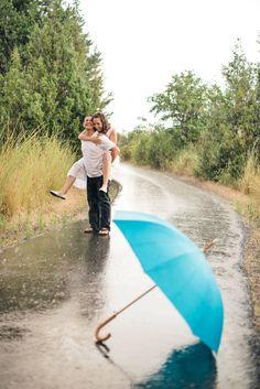 Wilton Photography | Engagement Photos | Rain Shoot