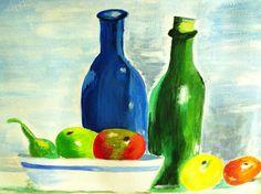 Stilleven schilderen acryl