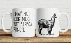 Alpaca Punch Coffee/ Tea Mug by TotesAmazeUK on Etsy https://www.etsy.com/listing/251087049/alpaca-punch-coffee-tea-mug
