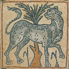 https://flic.kr/p/qkLNgW | Qasr Libya mosaic museum, Leopard with cintamani | from: www.temehu.com/Cities_sites/museum-of-qasr-libya.htm