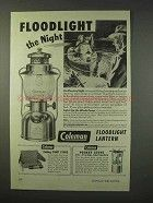 1947 Coleman Floodlight Lantern Ad - The Night