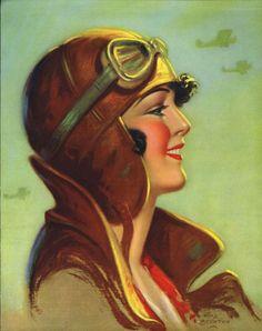 Aviator Girl, by Fitz Boynton
