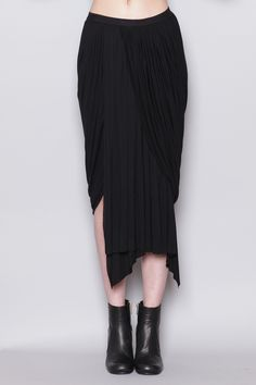 Rick Owens Gathered Skirt (Black)