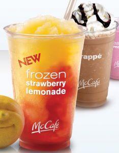 BOGO McCafe drinks coupon for McDonalds! Strawberry Lemonade sounds good to me...    http://www.coupondad.net/blog/mcdonalds-coupons-2012/