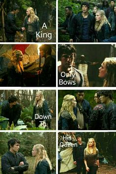 A king only bows to his queen. || Bellamy Blake and Clarke Griffin || The 100 || Eliza Jane Taylor and Bob Morley || Bellarke