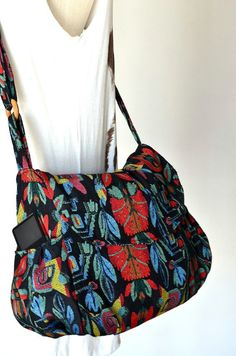 Hippie Messenger Bag Handbags Floral Woven Bag by Dollypun on Etsy