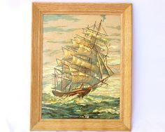 1950s Paint By Numbers  Mid Century Nautical / by ModLoungeVintage, $44.00