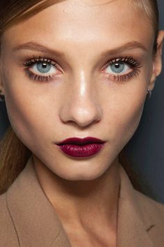 lashes and a wine lip. all about this look for fall/winter