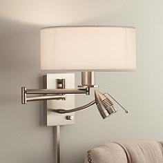Possini Euro Plug-In LED Reading Swing Arm Wall Light