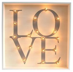 Marquee Light-Up Love Square | A Place for Everything | One Kings Lane