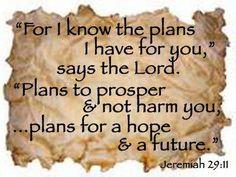 God's plans for you.
