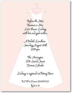 love the wording on this sweet wedding dress bridal shower invitations wedding invitations bridal