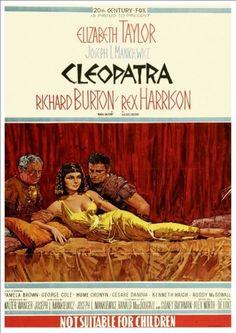 Fantastic A4 Glossy Print - 'Cleopatra' (1) - (Elizabeth Taylor, Richard Burton 1963) - Taken From A Rare Vintage Movie / Film Poster by Unknown http://www.amazon.co.uk/dp/B00FQA32MC/ref=cm_sw_r_pi_dp_7tyuvb0CJ3HVH