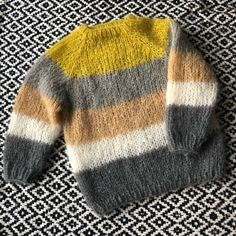 Patron tricot pull mohair Jaune Lemon - New Ideas Baby Boy Knitting Patterns, Baby Hats Knitting, Knitted Hats, Long Sweater Coat, Mohair Sweater, Sweater Blanket, Knit Cardigan, Long Sweaters For Women, Baby Sweaters