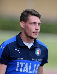 Andrea Belotti of Italy looks on prior to the training session at Coverciano at Coverciano on June 05, 2017 in Florence, Italy.