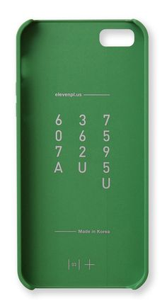 This iPhone 5/5S Case is designed by Clou & Co for ELEVENPLUS and finished in Pantone Forest Green. http://zocko.it/LBa9y