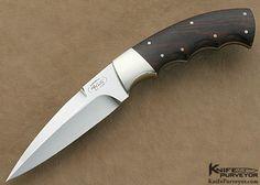 custom knives | Carter Custom Knife Finger Grooved Desert Ironwood Small Boot Knife ...