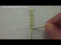 """I ❤ embroidery . . . Feather Stitch Video Tutorial~ A Great Stitch for creating vines and branches – anywhere you want something kind of twiggy and vine-like, the feather stitch will be of good use! It makes great """"spray"""" backgrounds for floral embroidery, for example."""
