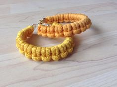 Cotton cord bracelet. knot bracelet. yellow bracelet by Kreseme