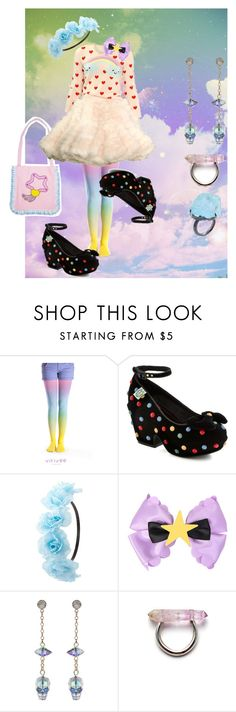 """ccxxix"" by skulldilocks ❤ liked on Polyvore featuring Galaxxxy, Meadham Kirchhoff, Miss L Fire, Charlotte Russe and Nadia Minkoff"