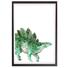 Watercolour Stegosaurus WALL PRINT