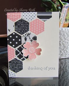 Hexagon punch card via Sherry's Stamped Treasures.