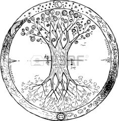 Coloring Yggdrasil: the celtic tree of life vector. Yggdrasil is the celtic tree , Tree Of Life Meaning, Tree Of Life Symbol, Celtic Tree Of Life, Celtic Tree Tattoos, Irish Tattoos, Tattoo Tree, Wiccan Tattoos, Indian Tattoos, What Is A Mandala