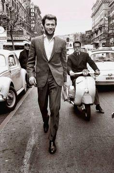 Clint Eastwood Walking In Rome (1960s) | Bored Panda