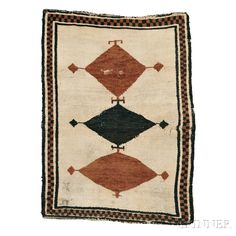 Gabbeh Rug, Southwest Persia, late 19th century,  4 ft. 9 in. x 3 ft. 5 in.   | Skinner Auctioneers Sale 2752B