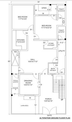 1800 Sq Foot House Plans Inspirational House Plan for 30 X 60 1800 Sq Ft Housewala 2bhk House Plan, Model House Plan, Simple House Plans, Duplex House Plans, Best House Plans, Small House Layout, House Layout Plans, House Layouts, 40x60 House Plans