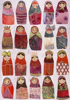 hinking of Christmas already ( well I saw mince pies stacked neatly in Tescos today!) the russian dolls will be printed onto the lovely can...