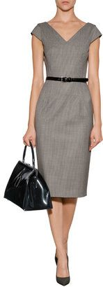 Michael Kors Stretch Wool Houndstooth Sheath