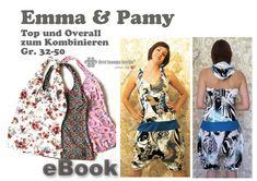 Emma&Pamy♥ E-BOOK Top Overall Nähanleitung 32-50 von first lounge berlin     Einzigartige Ebooks Nähanleitungen mit Schnittmuster ♥ Auch für Nähanfänger  auf DaWanda.com